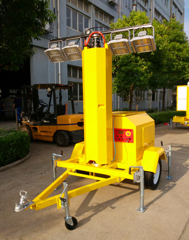 Generator Powered Portable LED Light Tower