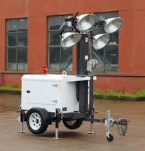 Compact Generator Powered Portable LED Light Tower